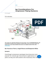 Thermal Design Considerations For Centrifugal Compressor Piping Systems