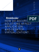 How do security solutions affect application and desktop virtualization?