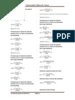 Formulas  para el cálculo de caída de tensión en CC