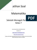 Kumpulan Soal Matematika Elas 7