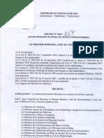 Décret n° 2005-157, portant déclaration de sinistre du territoire national malagasy