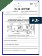 Teste de história 3 ano 1bim-1
