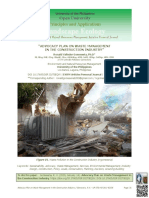 Advocacy Plan on Waste Management in the Construction Industry