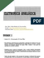 Aula 5 Eletrônica Analógica - Polarização CC dos TBJs