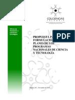 PLANES DE LOS PROGRAMAS NACIONALES DE CIENCIA Y TECNOLOGÍA