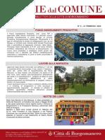 Notizie Dal Comune di Borgomanero del 21-02-2020