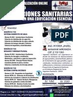 INSTALACIONES SANITARIAS EN UNA EDIFICACIÓN ESENCIAL