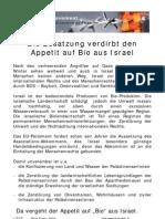 2010 Flugblatt Die Besatzung verdirbt den Appetit auf Bio aus Israel