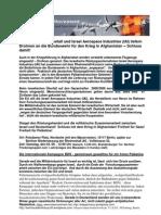 2010 Flugblatt zur Kundgebung am 04.09. Rheinmetall und Israel Aerospace Industries IAI liefern Drohnen an die Bundeswehr für den Krieg in Afghanistan