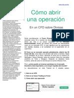 Como abrir una operación