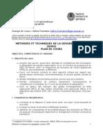 Plan du cours GGR-22043 automne 2008 Université Laval