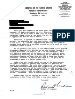 Bernie Sanders 1991 Letter