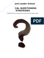 Critical Questioning - some useful ideas and tools to get started