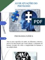 Áreas de Atuação do Psicólogo Clinica e EducacionalPDF