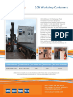 OEG Offshore - 10ft Workshop Containers - Datasheet