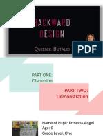 backward design PPT