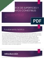 TRATAMIENTOS DE SUPERFICIES Y REVESTIMIENTOS COMESTIBLES