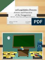 Local Legislative Process, Powers and Functions of the Sanggunian