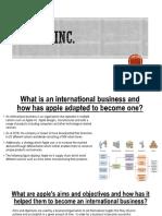 Apple Inc international
