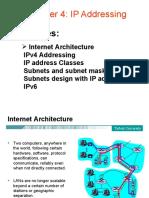 CS-414 Chap 4 ( IP Address - Subnet Mask)