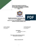 INFORME DE PASANTIAS COMUNITARIAS  REALIZADAS EN EL AMBULATORIO ARSENAL  DEL MUNICIPIO MARIO BRICEÑO IRAGORRY