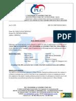 PLC ENGINEERS & CONSTRUCTION INC MR. SARAVANAN CHENNAN