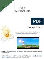 FÍSICA - CALORIMETRIA