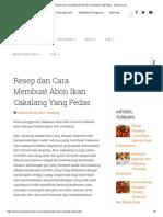 Resep dan Cara Membuat Abon Ikan Cakalang Yang Pedas - Selerasa.com