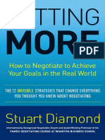 Getting More by Stuart Diamond - Excerpt