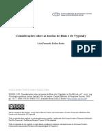 Considerações Elias e Vygotsky