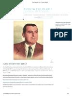 Julio Argentino Jeréz – Revista Folklore