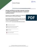Cognitive Behaviour Therapy Volume issue 2019 [doi 10.1080_16506073.2019.1583277] Farris, Samantha G.; Matsko, Stephen V.; Uebelacker, Lisa A.; Br -- Anxiety sensitivity and daily cigarette smoking