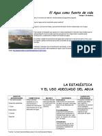 AGUA[1].LA ESTADISTICA Y EL USO ADECUADO DEL AGUA.doc