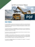 Alcance de un SGC en el Sector Minero