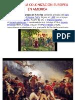 Como era la colonización europea