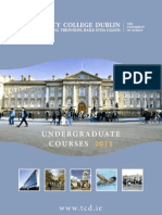 TCD Undergraduate Courses 2011