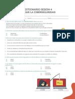CUESTIONARIO DEL ESTUDIANTE- MANEJAR LA CIBERSEGURIDAD