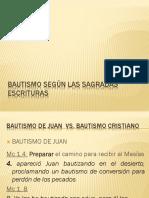 2. BAUTISMO SEGÚN LAS SAGRADAS ESCRITURAS