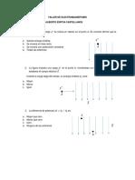 TALLER  DE  ELECTROMAGNETISMO (potencial eléctrico)