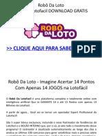 Robo Da Loto - Planilha Lotofacil DOWNLOAD GRATIS