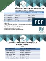 fechas de homologaciones y examen de suficiencia 2010