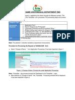 MEESEVA User Manual for DEPT-Change of Name Certificate