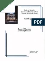 Board of Pharmacy Audit