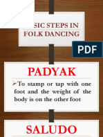 BASIC STEPS IN FOLK DANCING