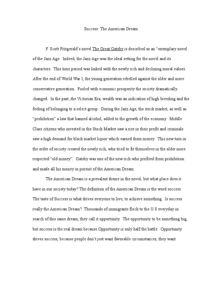 half finished essay the great gatbsy In f scott fitzgerald's 1920s era novel the great gatsby you just finished sample cause and effect essay sample cause and effect essay - great gatsby.
