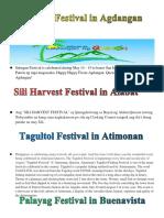 Festival output