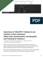 Tally ERP 9 Training
