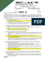 AUDIT - 1ST preboard (SET A)