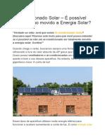 Ar-Condicionado Solar – É Possível Um Aparelho Movido a Energia Solar