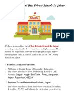 List of 20 Top and Best Private Schools in Jaipur